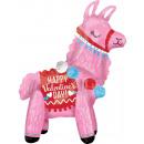 Happy Valentine's Day Llama, Lama Foil Balloon