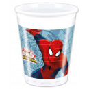 Spiderman , Spiderman Plastic cup 8 pieces 200 ml