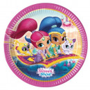 Shimmer and Shine Paper Plate 8 x 23 cm