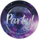 Galaxy Party Paper Plate with 8 pcs 23 cm