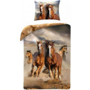 wholesale Bedlinen & Mattresses: Horse, The Horses  Bedsheet Cover 140 × 200cm, 70 ×