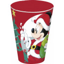 DisneyMinnie Christmas glass, plastic 430 ml