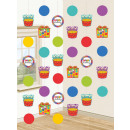 Happy Birthday Hanging Decoration with 6 pieces