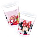 Disney Minnie Vasos de plástico 8 piezas 200 ml