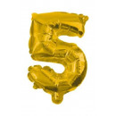 Óriás 5-ös Gold szám Fólia lufi 85 cm