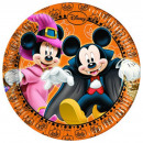 Disney Mickey plaque Halloween papier 8 pièces