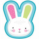 Rabbit, Bunny Paper Plate with 8 pcs 26.6 cm