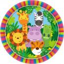 Jungle, Jungle Paper Plate 8 pcs 22.9 cm