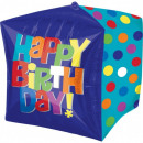 Happy Birthday Cube Foil Balloons