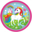 Unicorn papier plaat 8-piece 23 cm