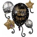 Gelukkig Nieuwjaar folie ballon 76 cm