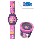 Zegarek analogowy Peppa Pig w metalowym pudełku