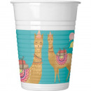 wholesale Drinking Glasses: Llama, Lama Plastic cup 8 pieces 200 ml