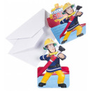 Fireman Sam , Sam's Fireman Party Invitation 8