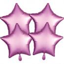 Satin, satin Flamingo Stars Foil balloons 48 cm 4