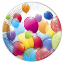 Balloon paper  plate of 10 pieces of 23 cm
