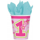 First Birthday Paper Cup 8 pieces 266 ml