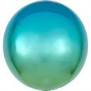 Omelet Blauwe en groene bol Folieballonnen 40 cm
