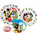 groothandel Licentie artikelen: DisneyMickey servies, micro plastic set