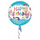 Happy Birthday Sphere Foil Balloons 40 cm