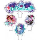 Enchantimals cake candle, 4 pcs candle set