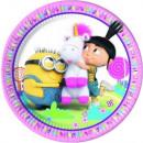 Minions , Agnes & Fluffy Unicorn Paper Dish