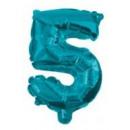 Mini 5-ös Blue szám Fólia lufi 10 cm