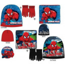 Kids Scarves, Snood + Glove + Cap Set Spiderman