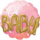 Pink Baby Girl Foil Balloons 71 cm