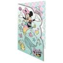 DisneyMinnie glitter greeting card + envelope