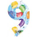 Giant Number Foil Balloons 86 * 55 cm