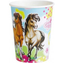 wholesale Gifts & Stationery: Horse, The Horses  paper cup 8 pieces 266 ml