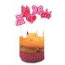 groothandel Kaarsen & standaards: Girly mini cakekaars, kaarsenset van 8 ...
