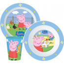wholesale Knife Sets: Peppa pig tableware, micro plastic set