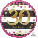 Happy Birthday 30 balonów foliowych 43 cm