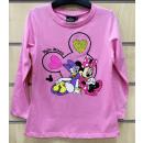 nagyker Gyerek- és babaruha: Disney Minnie Flitteres gyerek hosszú ujjú póló 2-
