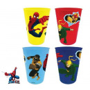 Cup Set - 4 Piece Spiderman, Spiderman