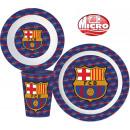 groothandel Licentie artikelen: Vaatwerk, plastic micro set met FCB, FC Barcelona
