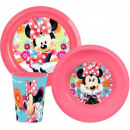 Tableware, plastic sets of Disney Minnie