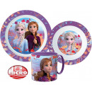 Disney Ice magic tableware, micro plastic set