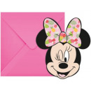 DisneyMinnie Party Invitation 6 pcs