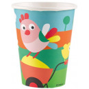wholesale Gifts & Stationery: Farm paper cups of 8 pieces 250 ml