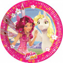wholesale Licensed Products: Mia and Me Paper Drum 8 pcs 19.5 cm