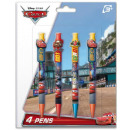 Pen set of 4 pieces DisneyCars , Verdák