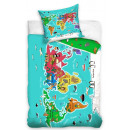 World map bedding 140 × 200cm, 70 × 90 cm