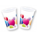 Lufis Plastic cup 10 pcs 200 ml
