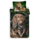 Pościel Leopard 140 × 200 cm, 70 × 90 cm