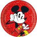 DisneyMickey Talerz papierowy 8 sztuk 23 cm