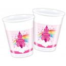 Rainbow Castle 8 pièces tasse en plastique de 200