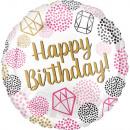 Happy Birthday Folienballons 43 cm